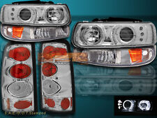 99 00 01 02 CHEVY SILVERADO HALO PROJECTOR HEADLIGHTS&BUMPER LIGHTS& TAIL LIGHTS