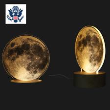 3D USB LED Magical Moon Night Light Moonlight Table Desk Moon Lamp Home Decor