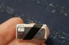 925 Silver Mens Ring. Size R.