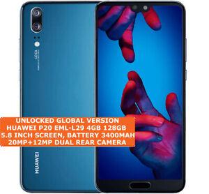 "HUAWEI P20 EML-L29 4gb 128gb Octa Core 20mp Face Unlock 5.8"" Android Smartphone"