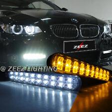 JDM 30 LED Daytime Running Light DRL Kit Fog Day lights + Amber Turn Signal C18