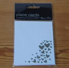 5 x Packs of Silver Heart Place Name Cards, Pack of 10 by Simon Elvin (38B)