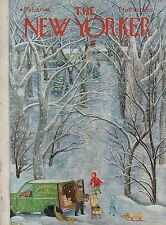 1949 New Yorker February 5 Grocery delivery in snowy Connecticut - Karasz