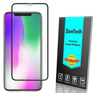2-PK ZenTech Tempered Glass [FULL COVER] Screen Protector For iPhone XS Max XR X