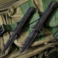 Black Legion Cyclone Assisted Opening Tactical Stiletto Folding Knife Set of 2