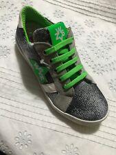 New W6YZ Boy Mix Leather Shoes size UK 13 Europe 32