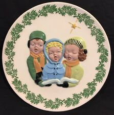 Christmas Carolers 10in. Holiday Plate