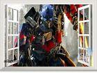 Transformer Optimus Prime Hero 3D Window Wall Decal Removable Sticker Kids Decor