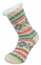 Girls Childrens 4.7 Tog Thermal Fleece Socks Sherpa Lining Double Heat Insulated