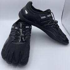 FILA EZSlide Skeletoes Barefoot Running Shoes Black Gray Men's Size 11
