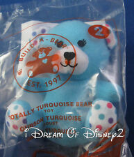 "New BUILD-A-BEAR McDonald's TOTALLY TURQUOISE BEAR Happy Meal 4"" Mini Plush Toy"