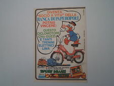 advertising Pubblicità 1974 ELAH e MOTO GUZZI CHIU'