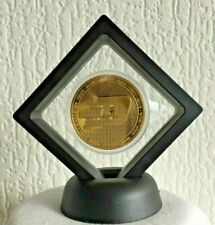 24k Gold Plated DASH coin Crypto currency Novelty in 3D Floating Display stand