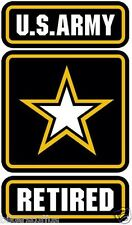 US ARMY RETIRED BUMPER STICKER LAPTOP STICKER HARD HAT STICKER HOOD STICKER
