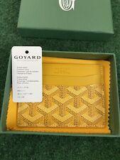 Goyard Saint Sulpice Card Holder Wallet Yellow
