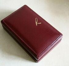 jewelry box + documents Vtg Recarlo Gioielli 1967 empty