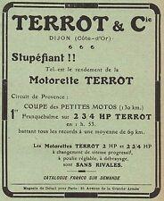 Y8220 Moto TERROT - I° Circuit de Provence - Pubblicità d'epoca - 1912 Old ad