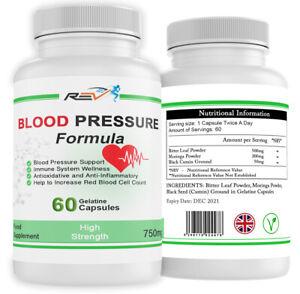 Blood Pressure Support & Immune System Supplement 100% ORGANIC 60 Capsules