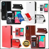 Etui folio housse coque Cuir PU Leather Stand Wallet Case Cover Wiko Y60, Y80