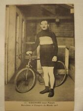 cpa cycliste vélo ancien sport course 1900-1920 photo N/B GUIGNARD stayer 1913