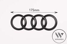 Black Matt Rear Back Audi Badge Rings Logo Emblem Audi TT R8 - 175mm x 60mm