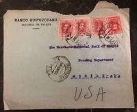 1928 Pasajes Spain Guipuzcoano Bank Cover To Mobile AL USA