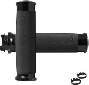 Avon Grips MT Custom Contour Grips Anodized Black MT-CC-86-ANO 17-9366 0630-1708