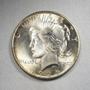 1925 Silver Peace Dollar UNC Coin AK903