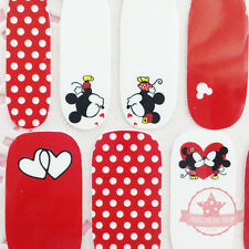 Mickey Mouse red one set of Full Nail polish strip wraps stickers Salon Manicure