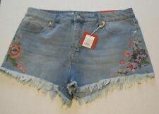 Women's Mossimo Supply Co.Short Shorts Fringe  Size 16/33 Waist Embroidered NWT