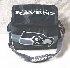 NFL SEATTLE SEAHAWKS Insulated Lunch Bag Manufacturer Error Baltimore Ravens NEW