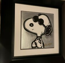 "Allison Lefcort, ""Joe Cool"" (Snoopy); Acrylic on Paper, Hand Signed and Framed"