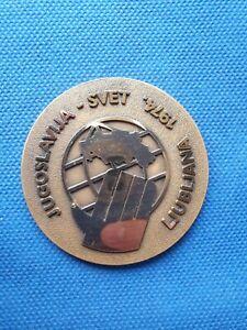 Plaque  25th anniversary Yugoslavia Handball association Ljubljana 1974