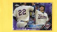2016 Topps Chrome Purple Refractor BRIAN DOZIER Twins /275