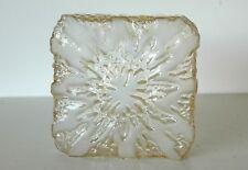 Decken Lampenschirm Rauch Glas quadratisch 19x 19 cm, 60er 70er, ohne Halterung