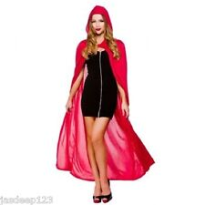 """Adult Unisex Hooded Cape 52"""" Halloween Fancy Dress Outfit Costume 4 Colours"""