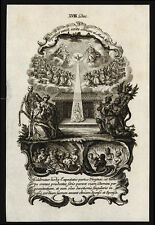 santino incisione 1700 IMMACOLATA CONCEZIONE-MEMENTO MORI klauber