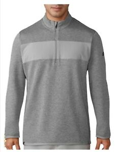 Adidas Men Performance 1/4 Zip Pullover Jacket Gray Size Medium NEW WITH TAGS