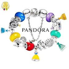 Authentic PANDORA Bracelet Silver with Disney Pincess Dress European Charms New