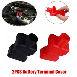 2×Car Battery Terminal Insulator Wire Connectors Cap Cover Top Column Protector