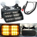 Car 18 LED Warning Light Flashing Dash Strobe Emergency Lamp Amber Truck SUV New