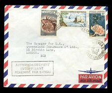 NEW CALEDONIA 1963 UNDERPAID for AIRMAIL SENT BY SEA