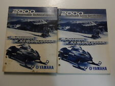 2000 Yamaha Snowmobile Tuning Specs Technical Update Manual 2 VOL SET FACTORY 00