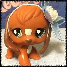 Littlest Pet Shop LPS RARE CHOCOLATE BROWN BEAGLE PUPPY DOG # 1738 (2)