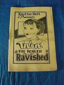 1930s TIJUANA BIBLE RISQUE Comic Book TILLIE The TOILER