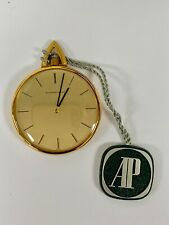 Brand New Audemars Piguet Vintage 18k Yellow Gold 1980s Pocket Watch With Box