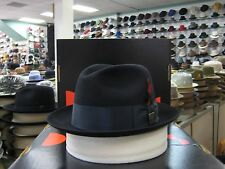 DOBBS DAYTON MIDNIGHT FUR FELT FEDORA DRESS HAT