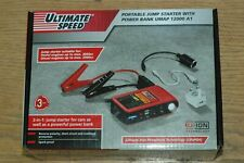 Ultimate Speed - Portable Jumpstarter with 12000 mAh powerbank - New & Sealed