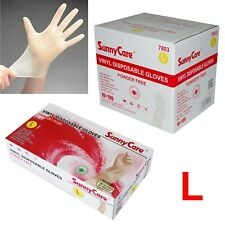 1000pcs Vinyl Gloves Powder Free (Latex Nitrile Free)🔥[DISCOUNTS]  🔥 Large