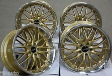 "18"" CRUIZE 190 GOLD ALLOY WHEELS FIT LEXUS IS & RC COUPE"